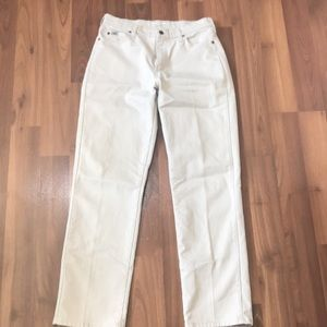Lee relaxed straight leg high rise beige jeans 10L